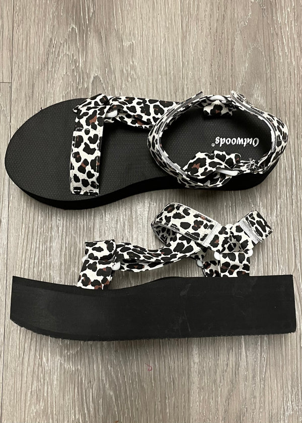 Katherine Leopard Velcro Sandals-Shop-Womens-Boutique-Clothing