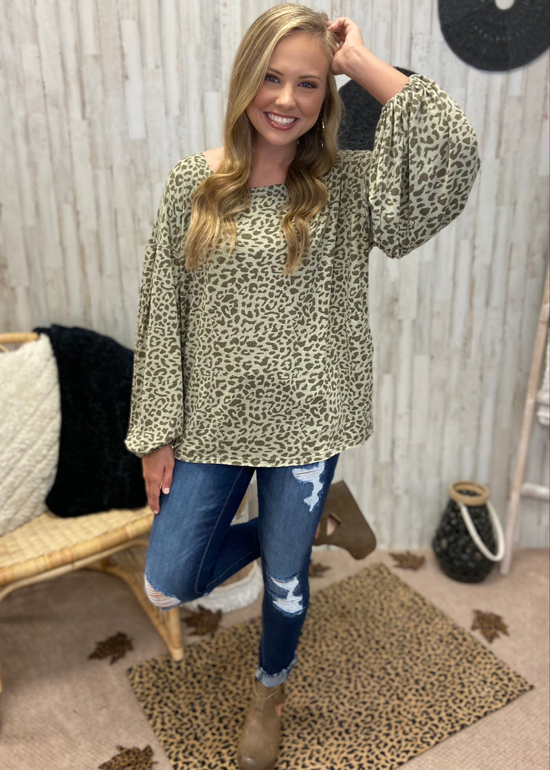 Run Away With Me Olive Leopard Top-Shop-Womens-Boutique-Clothing