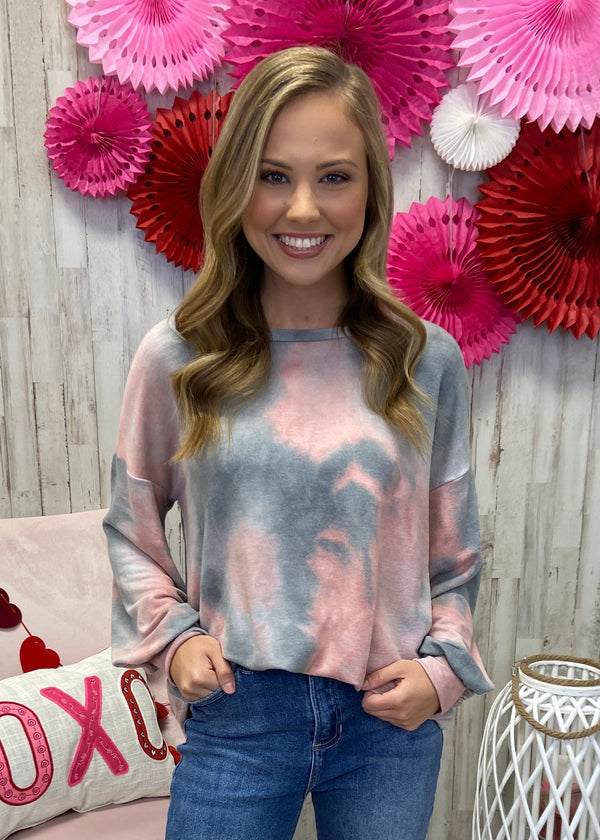 Midnight Traveler Blush Tie Dye Top-Shop-Womens-Boutique-Clothing