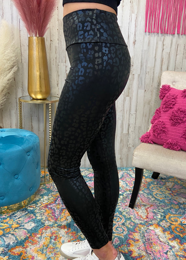 Running After You Black Leopard Leggings-Shop-Womens-Boutique-Clothing