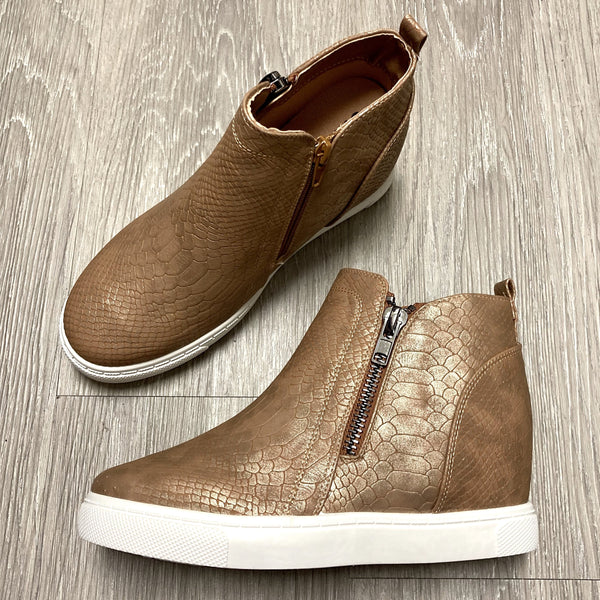 Skylar Taupe Croc Sneaker-Shop-Womens-Boutique-Clothing