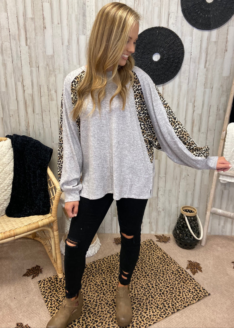 Hold My Hand Mushroom Leopard Top-Shop-Womens-Boutique-Clothing