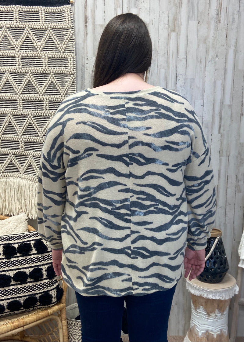 Wild For You Plus Natural Zebra Top-Shop-Womens-Boutique-Clothing