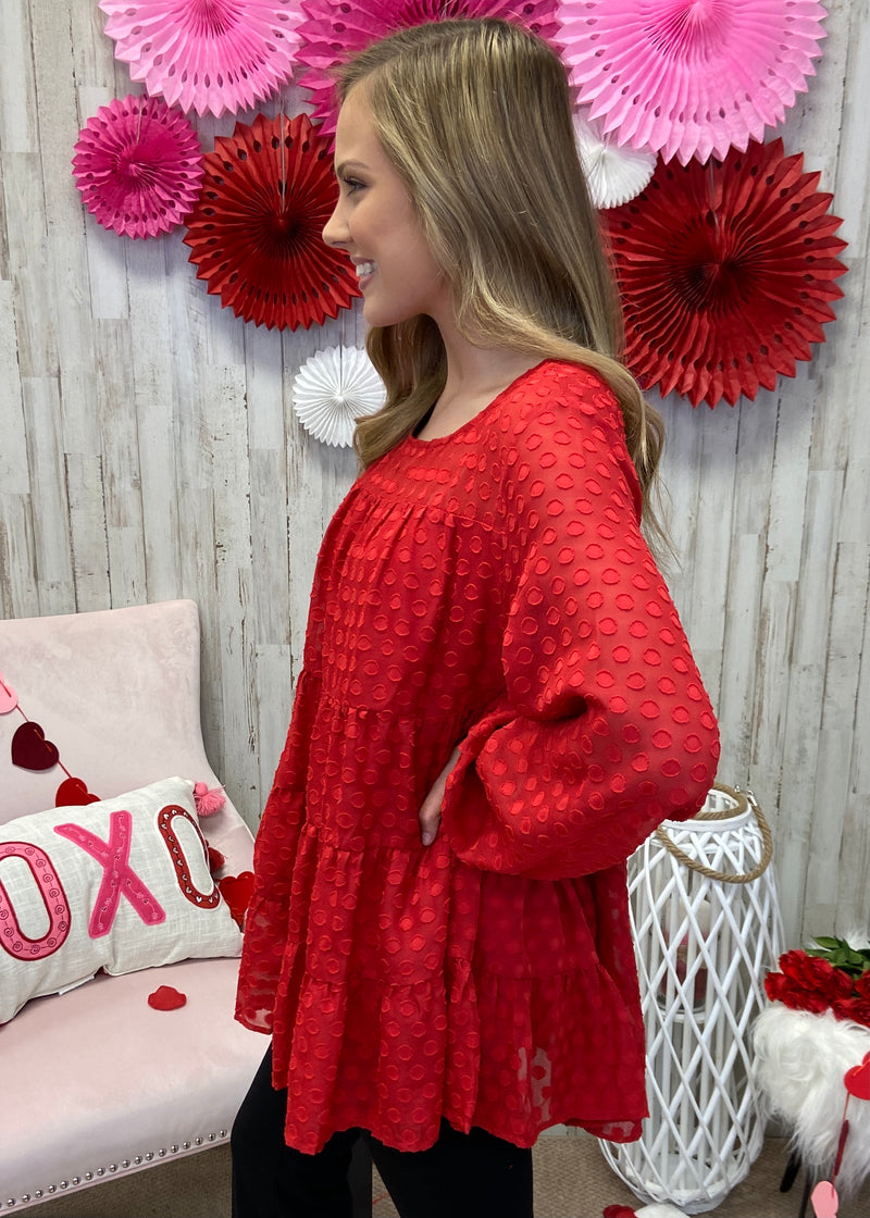 Spread Love Red Tier Top-Shop-Womens-Boutique-Clothing