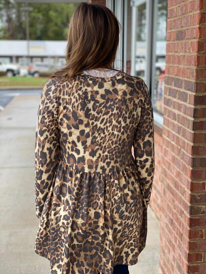 This Is A Dream Animal Leopard Baby Doll Dress-Shop-Womens-Boutique-Clothing