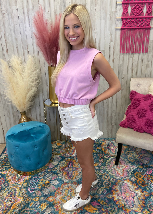 In The Motion Cotton Candy Crop Top-Shop-Womens-Boutique-Clothing