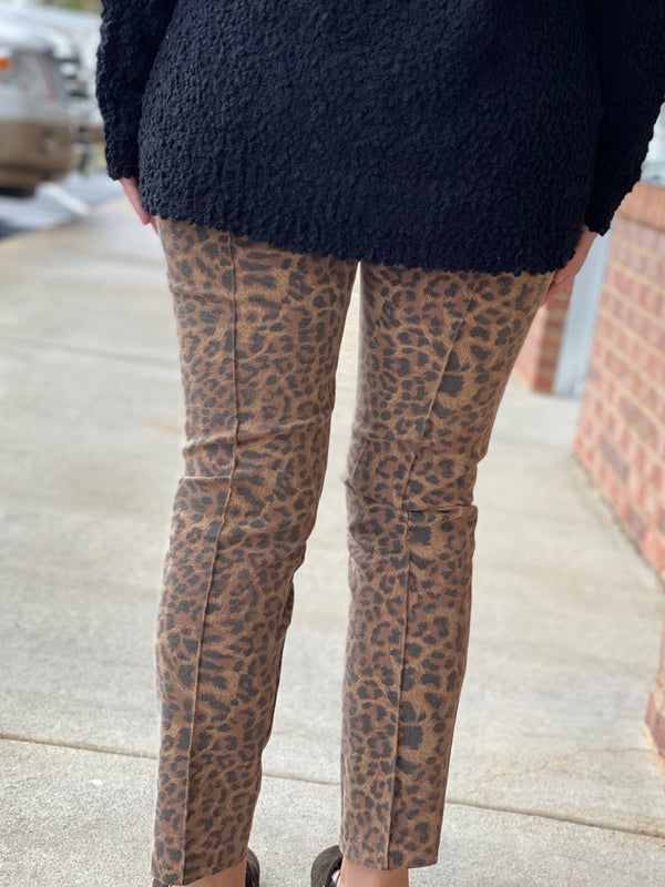 Leopard High Waisted Pants-Shop-Womens-Boutique-Clothing