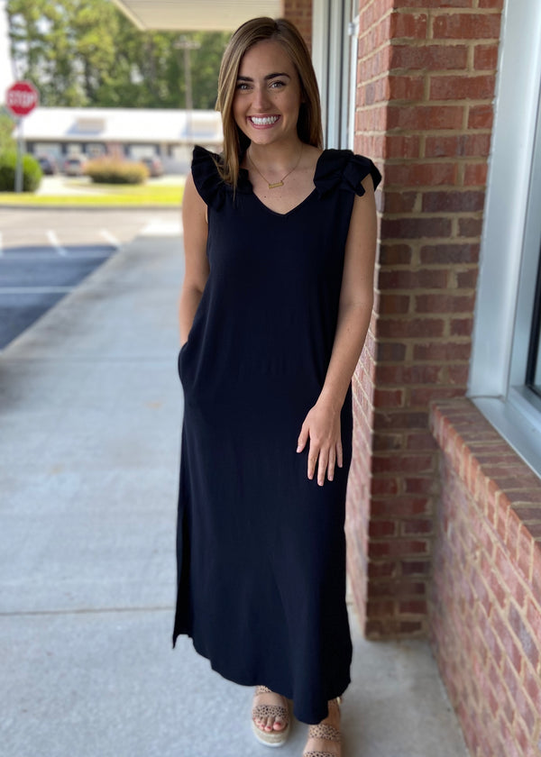 Isn't She Lovely Black Maxi Dress-Shop-Womens-Boutique-Clothing