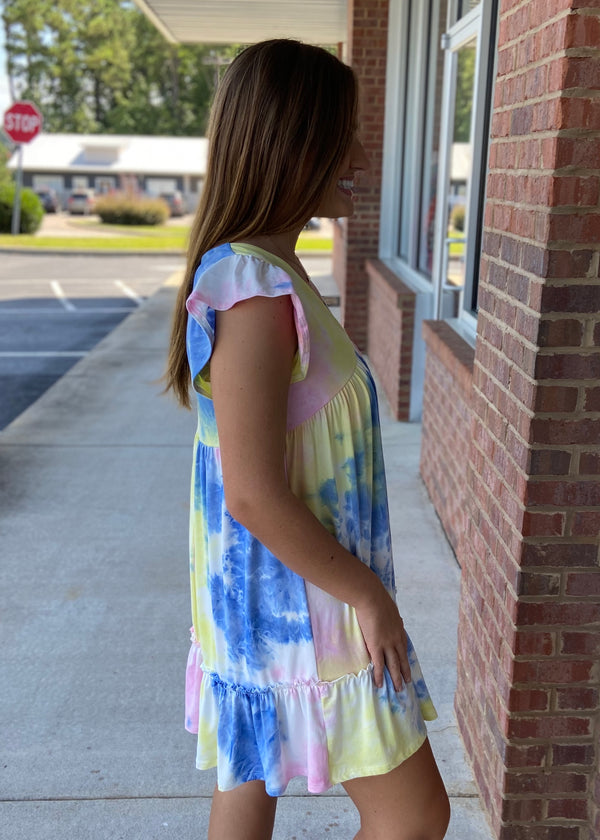 My Moment Pink Tie Dye Dress-Shop-Womens-Boutique-Clothing