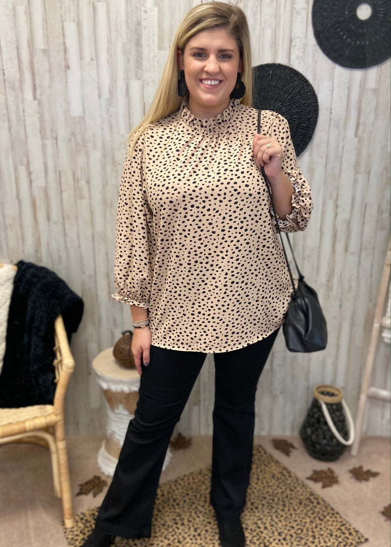 Prosecco Perfection Plus Taupe Leopard Top-Shop-Womens-Boutique-Clothing
