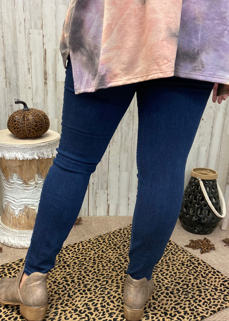 Can't Help Myself Plus Dark Denim Jeans-Shop-Womens-Boutique-Clothing