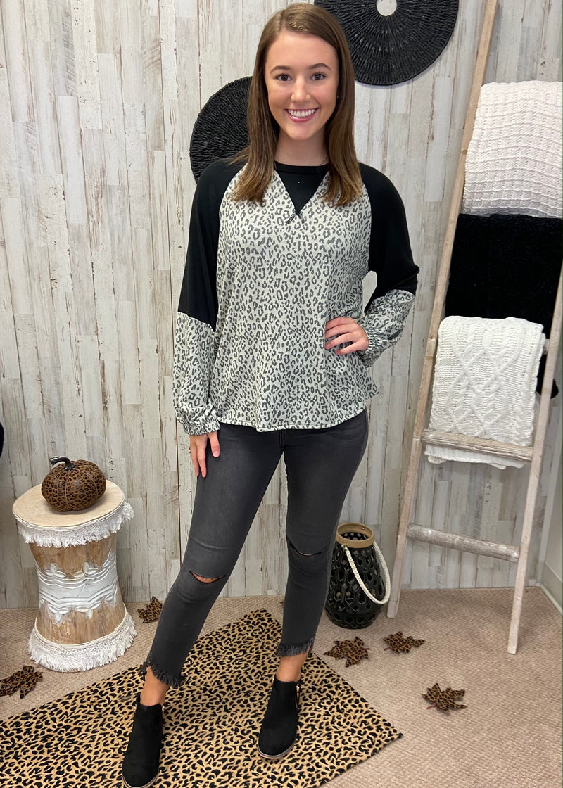 Wild Feather Grey Leopard Top-Shop-Womens-Boutique-Clothing