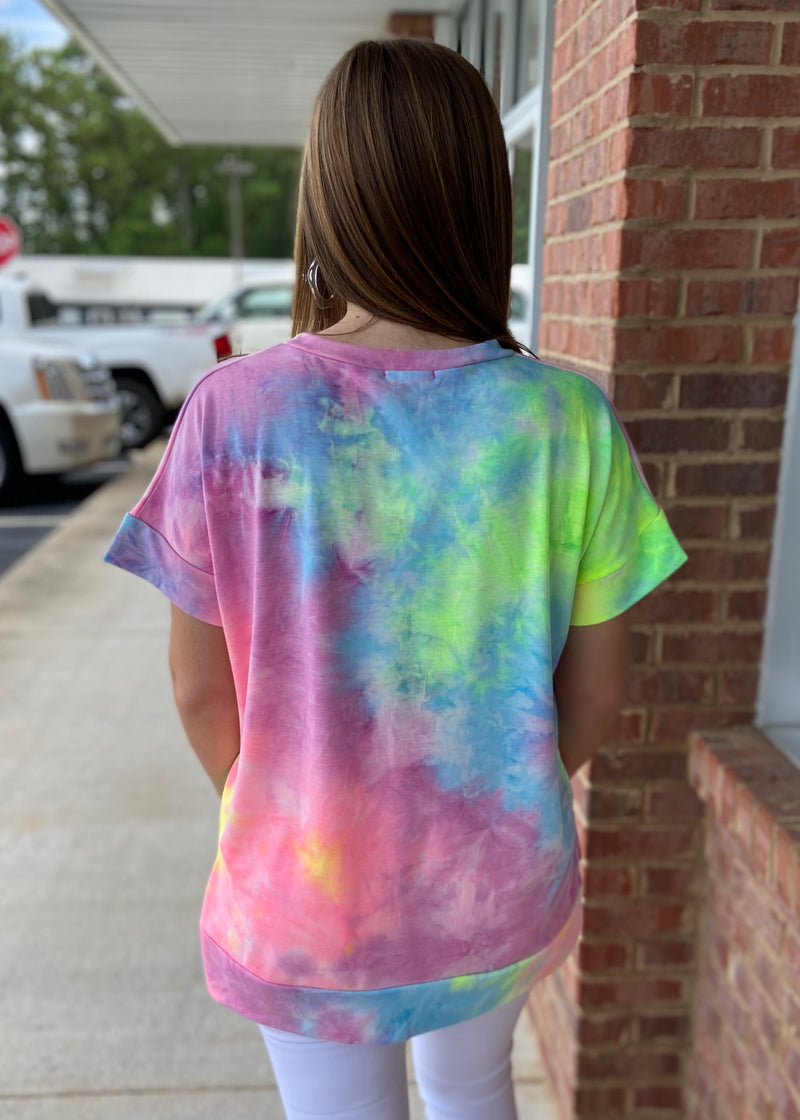 Oh What A World Tie Dye Top-Shop-Womens-Boutique-Clothing