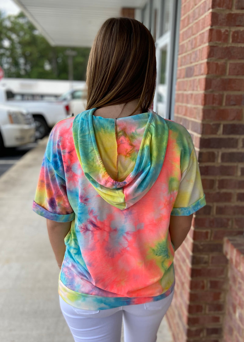 Just Can't Wait Tie Dye Hoodie-Shop-Womens-Boutique-Clothing