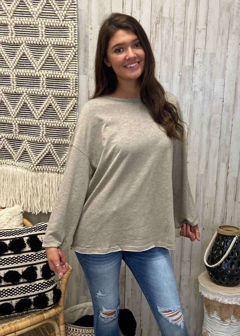 Hometown Bound Taupe Top-Shop-Womens-Boutique-Clothing