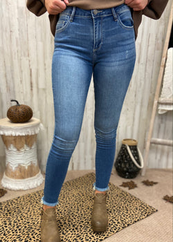 Uptown Brunch Denim Skinny Jeans-Shop-Womens-Boutique-Clothing