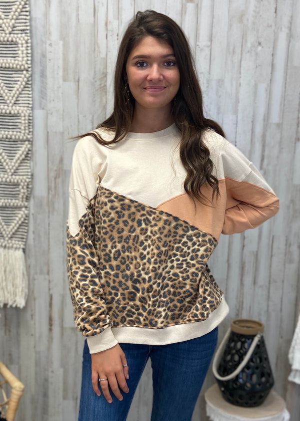 I'm Counting On You Camel Leopard Top-Shop-Womens-Boutique-Clothing