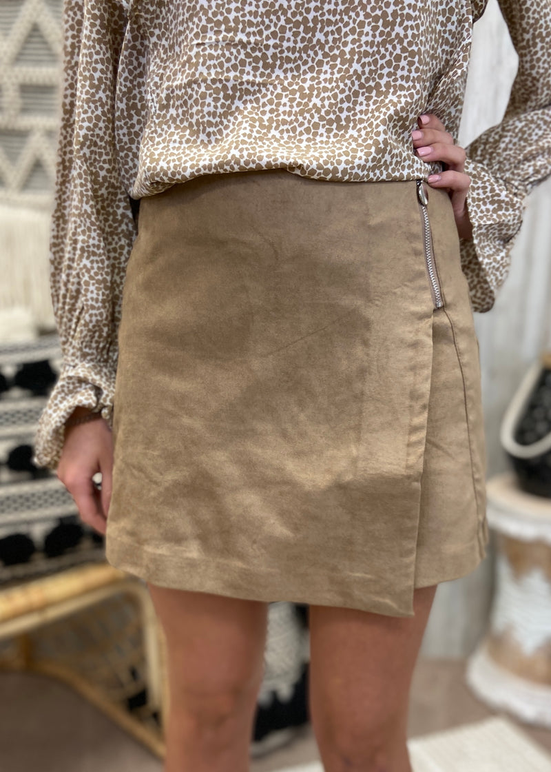 With Sass Mocha Skirt-Shop-Womens-Boutique-Clothing