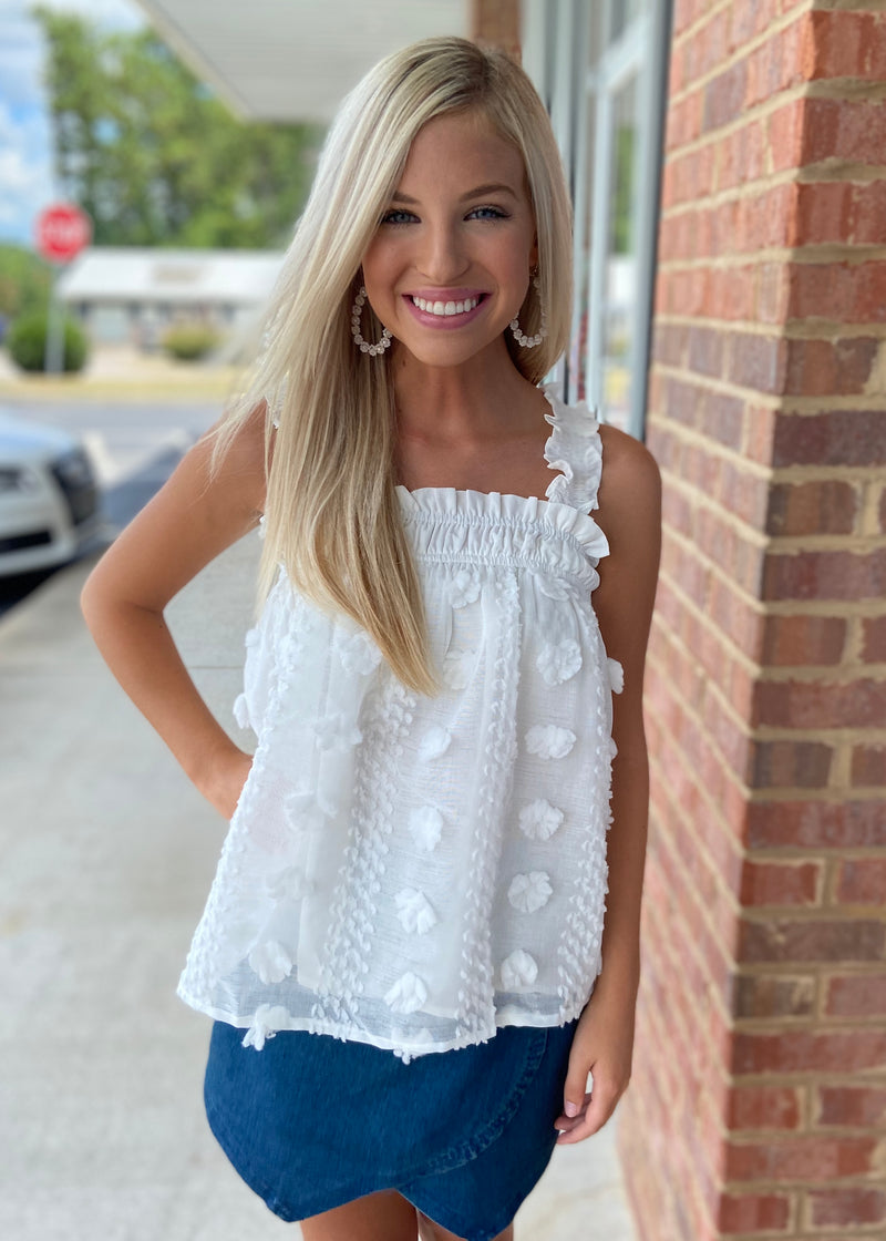 Love Falls Softly White Puff Top-Shop-Womens-Boutique-Clothing