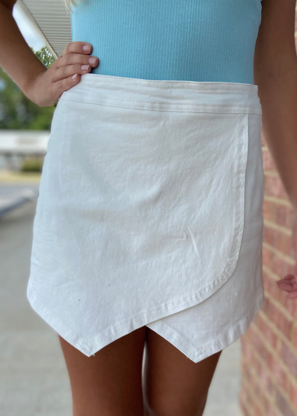 I Want It Now White Skort-Shop-Womens-Boutique-Clothing