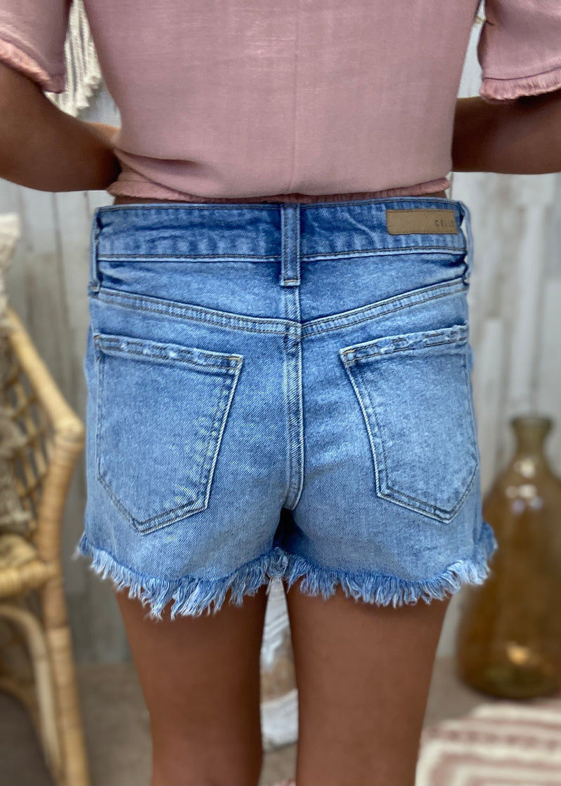Cool Moves Denim Shorts-Shop-Womens-Boutique-Clothing