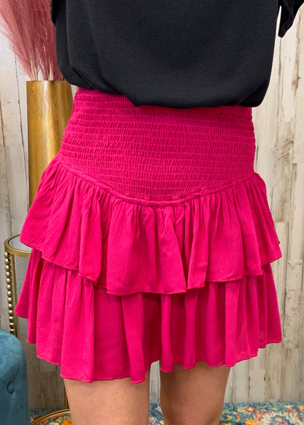 Feels Like Summer Fuchsia Smocked Skort-Shop-Womens-Boutique-Clothing