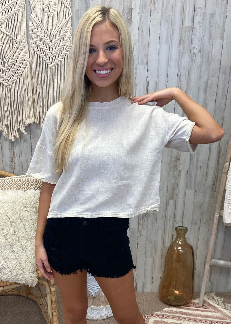 All For You Oatmeal Crop Top-Shop-Womens-Boutique-Clothing