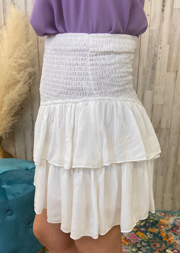Feels Like Summer White Smocked Skort-Shop-Womens-Boutique-Clothing
