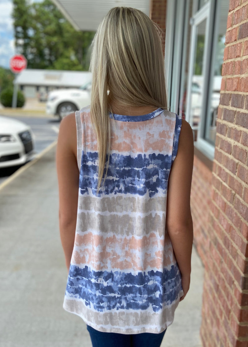 Groovy Nights Taupe Tie Dye Top-Shop-Womens-Boutique-Clothing