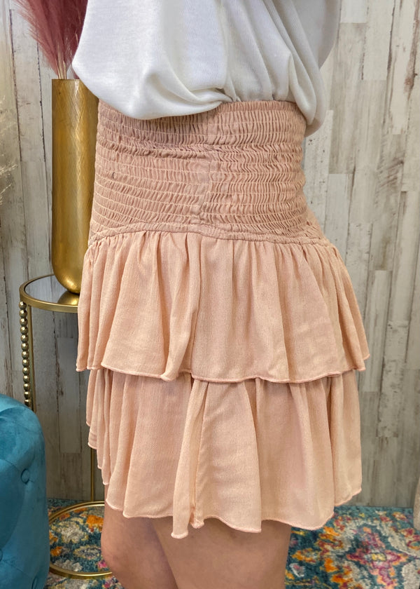 Feels Like Summer Dusty Pink Smocked Skort-Shop-Womens-Boutique-Clothing
