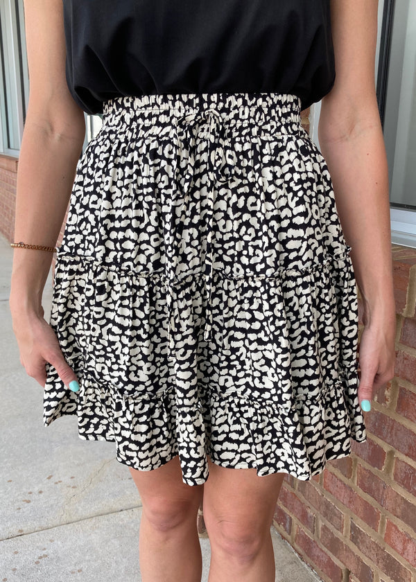 Be Fiercely You Black Triple Layer Skirt-Shop-Womens-Boutique-Clothing