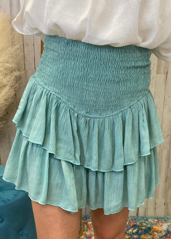 Feels Like Summer Sage Smocked Skort-Shop-Womens-Boutique-Clothing