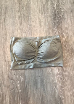 Casual Necessity Grey Bandeau-One size-Shop-Womens-Boutique-Clothing