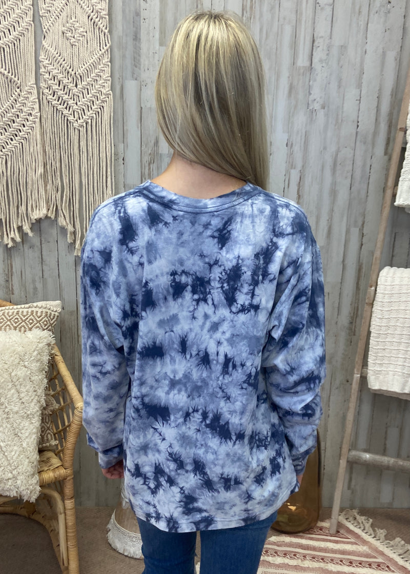 Fearless Chances Indigo Tie Dye Top-Shop-Womens-Boutique-Clothing