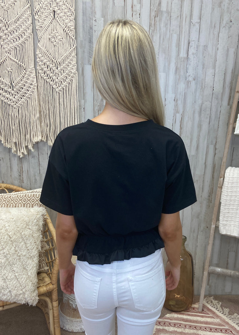 Worth Everything Black Crop Top-Shop-Womens-Boutique-Clothing