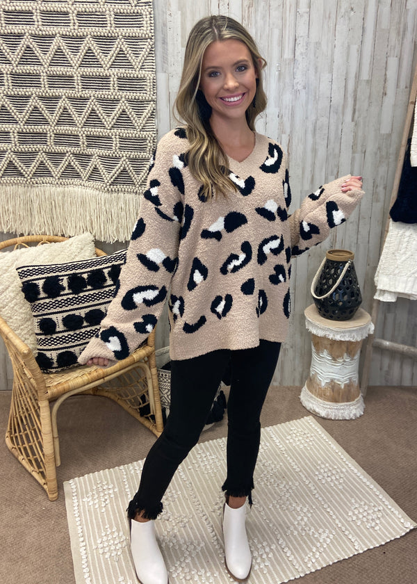Best Kept Cozy Mocha Leopard Sweater-Shop-Womens-Boutique-Clothing
