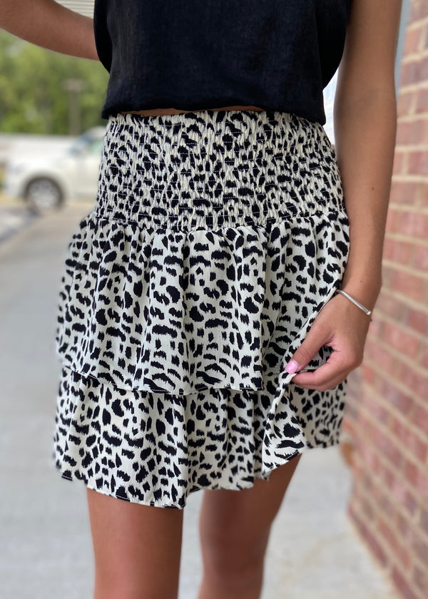 Lasting Impression Ivory Leopard Skirt-Shop-Womens-Boutique-Clothing