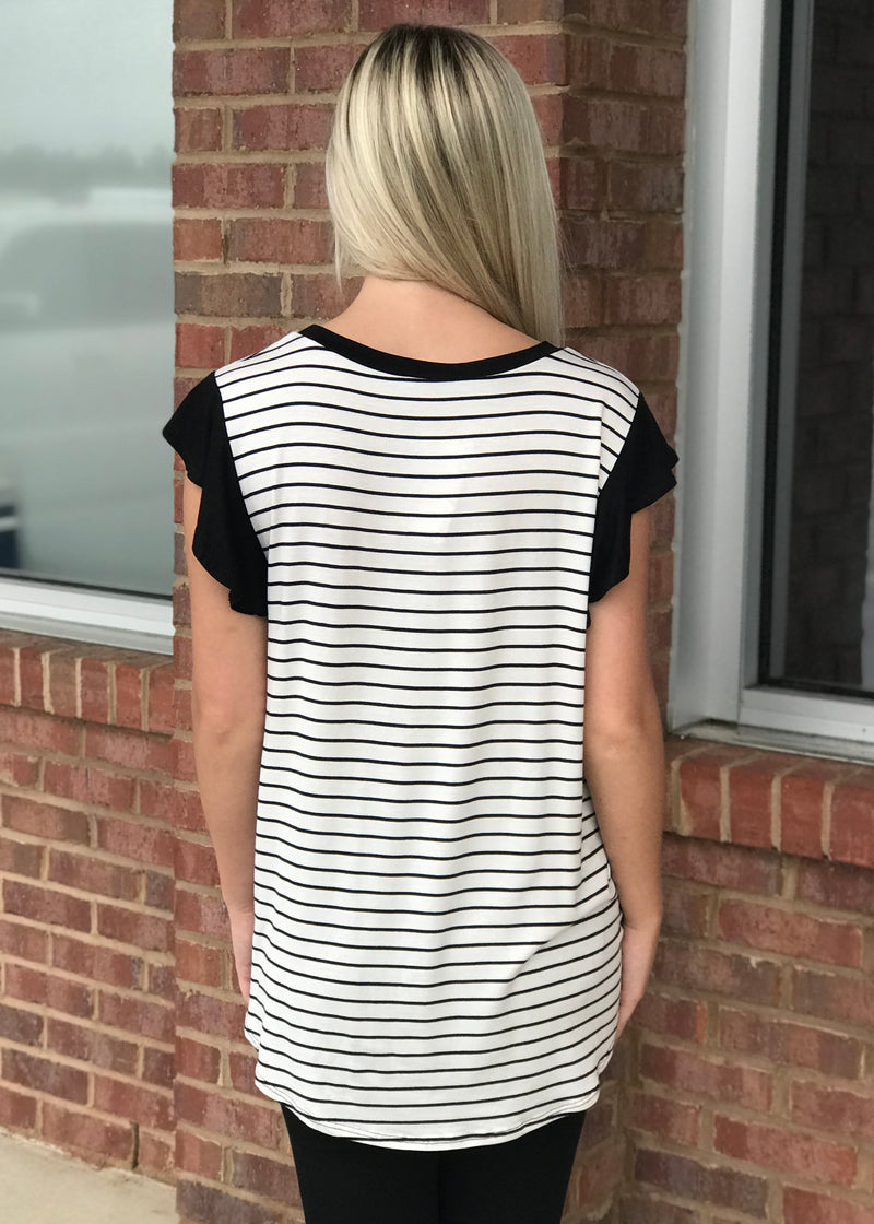 Keep Your Cool White Striped Top-Shop-Womens-Boutique-Clothing