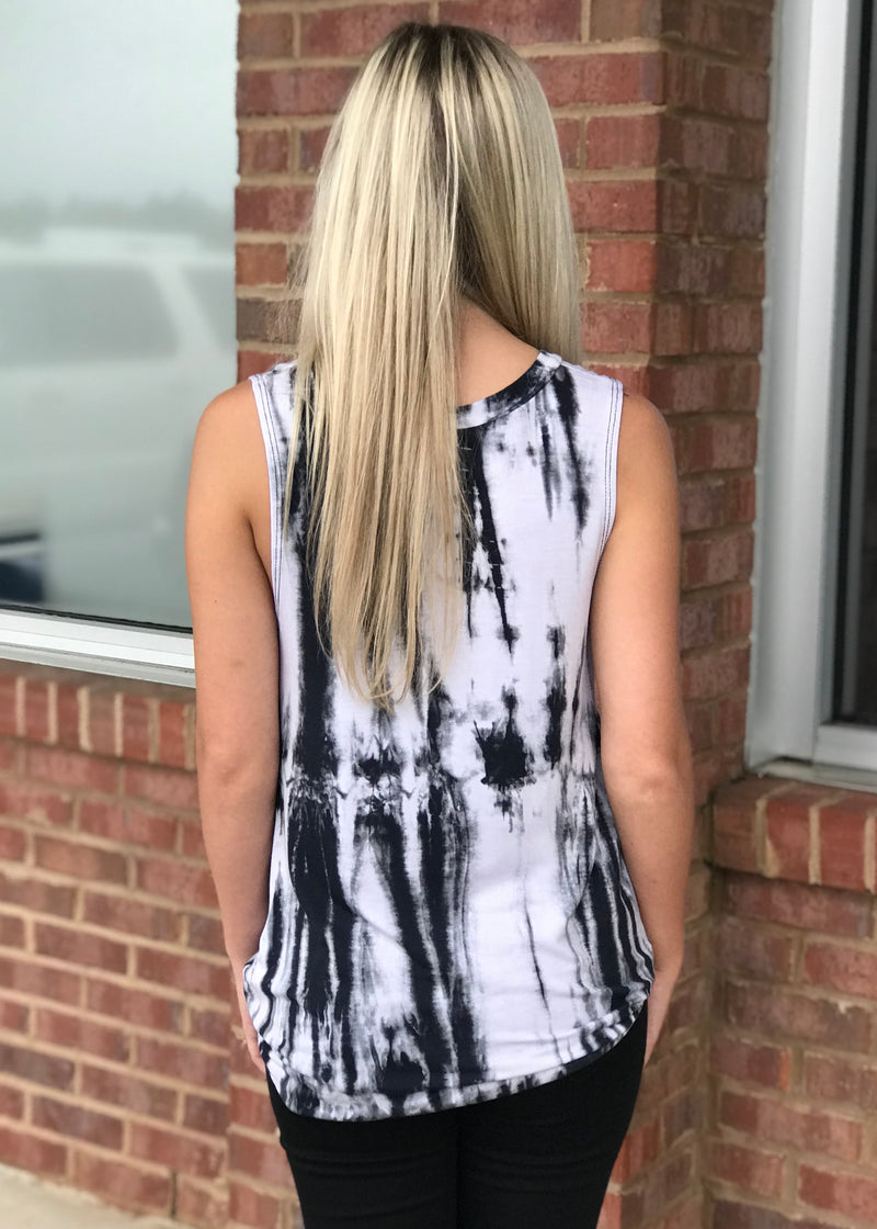 Let It Be Navy Tie Dye Top-Shop-Womens-Boutique-Clothing
