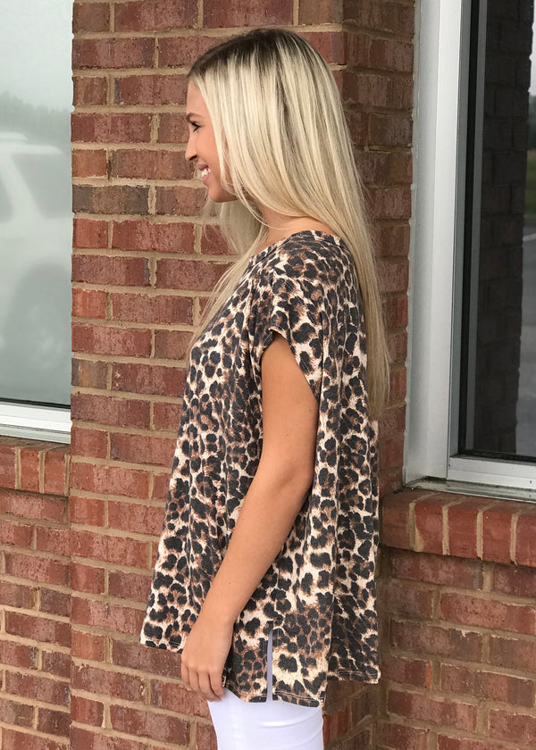 Wild Day Dream Brown Leopard Top-Shop-Womens-Boutique-Clothing