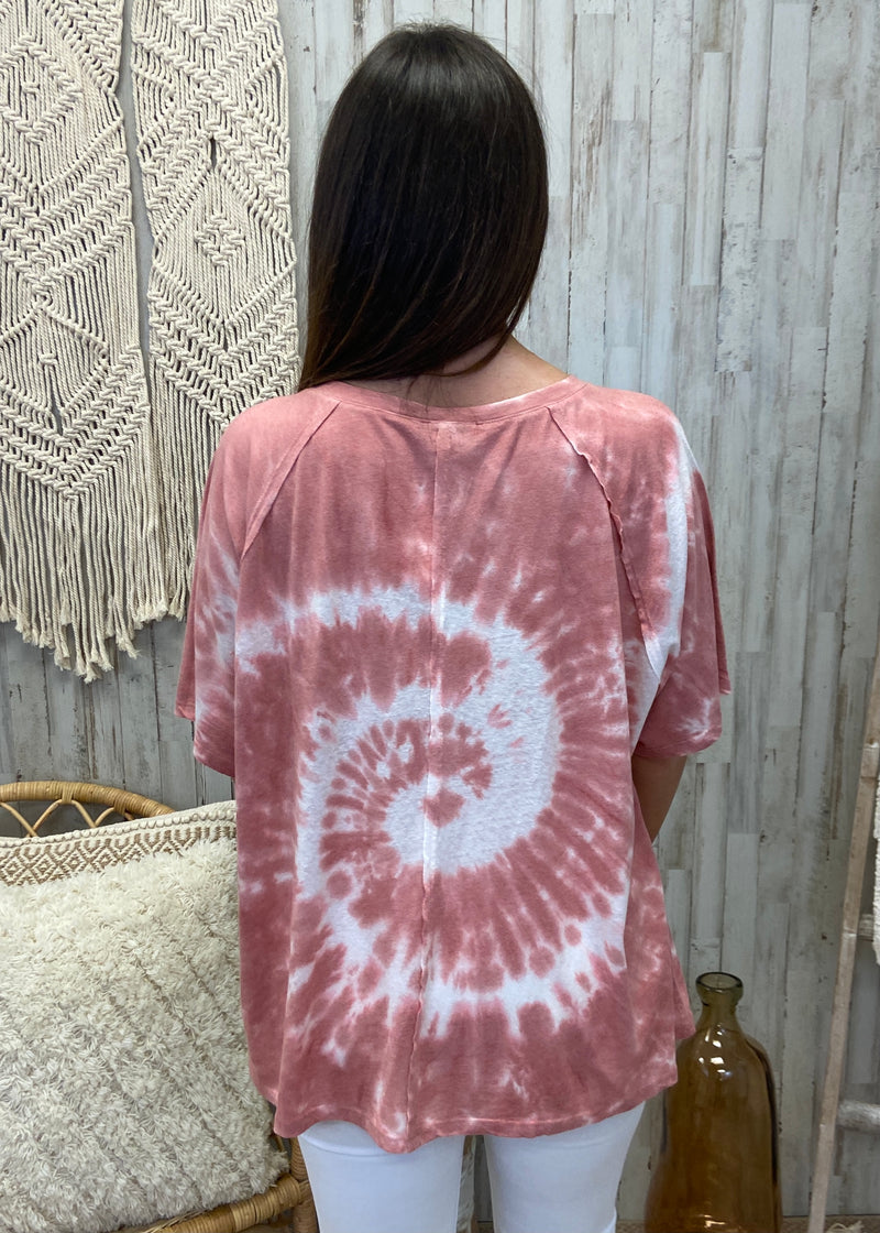 Anticipate Your Love Rose Tie Dye Top-Shop-Womens-Boutique-Clothing