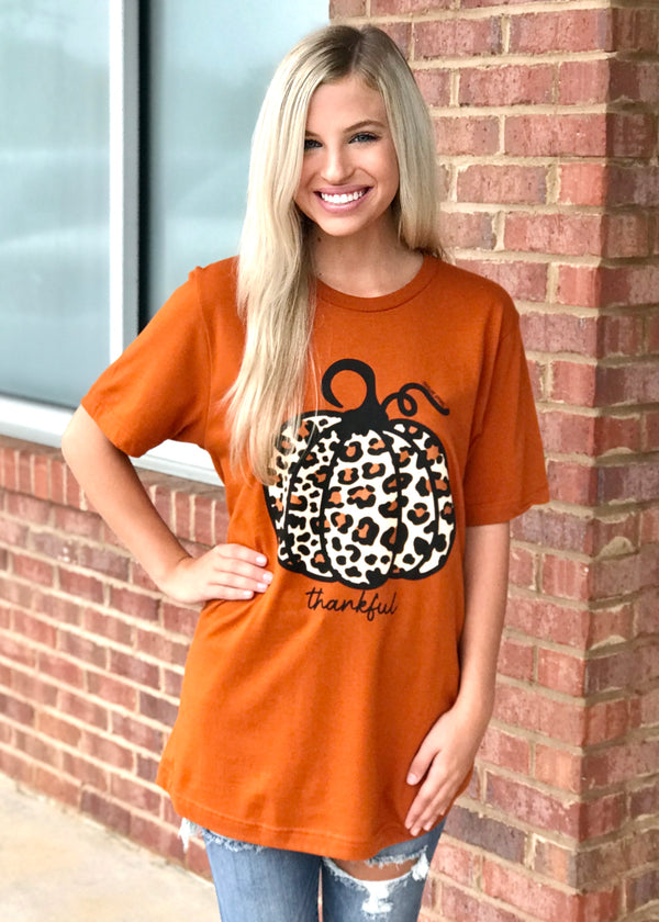 Pickin' Pumpkins Brick Leopard Tee-Shop-Womens-Boutique-Clothing