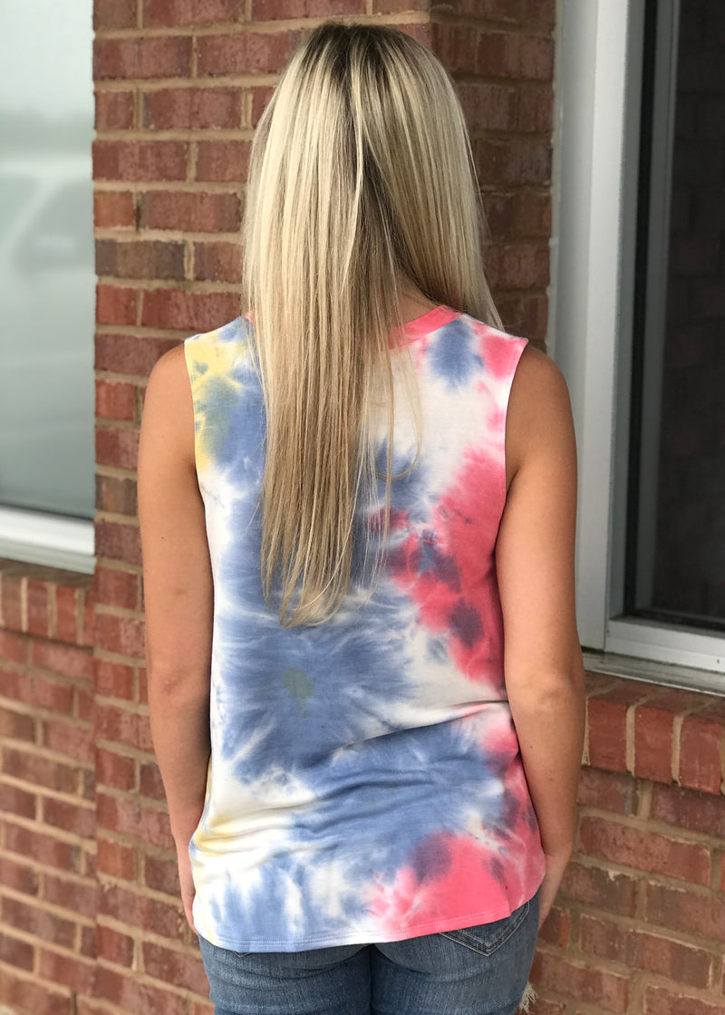 Watching The Clouds Tie Dye Tank Top-Shop-Womens-Boutique-Clothing
