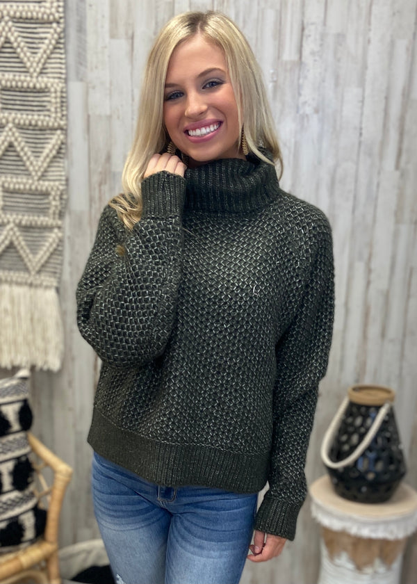 Just Too Good Dark Olive Sweater-Shop-Womens-Boutique-Clothing