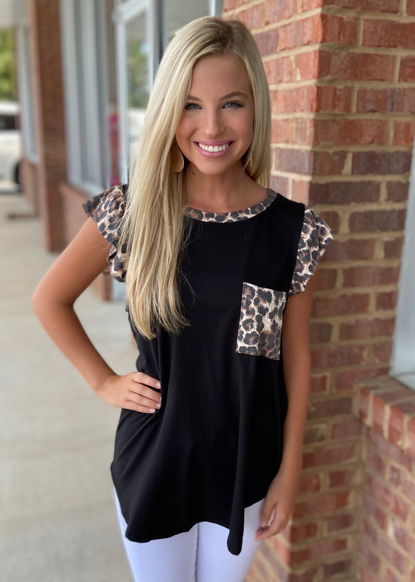 Hearts Race Black Leopard Top-Shop-Womens-Boutique-Clothing
