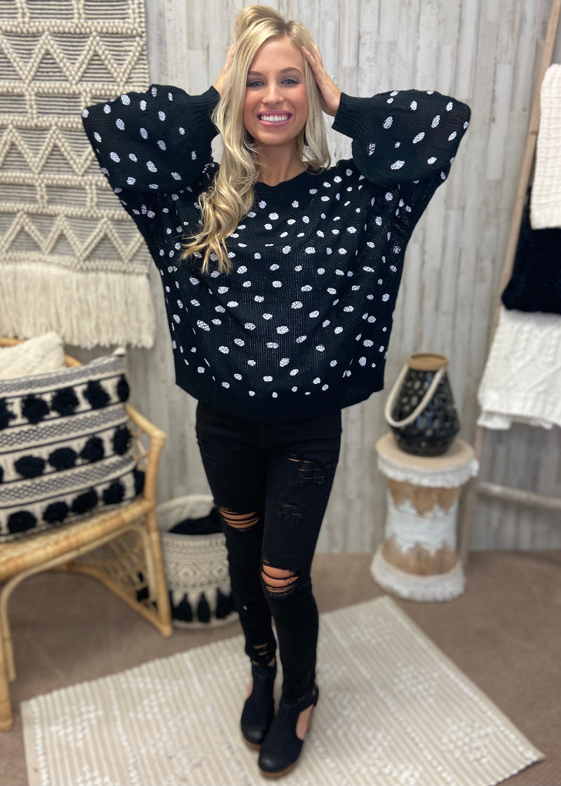 Nights On Broadway Black Sweater-Shop-Womens-Boutique-Clothing