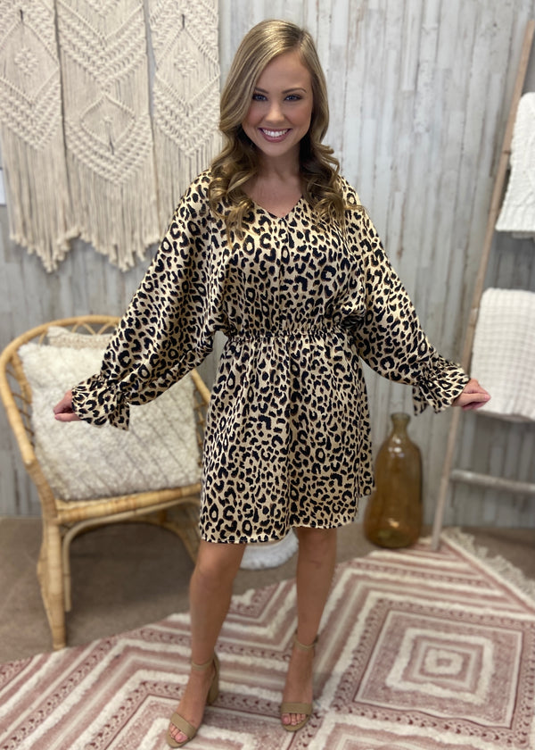 With You Again Satin Leopard Dress-Shop-Womens-Boutique-Clothing
