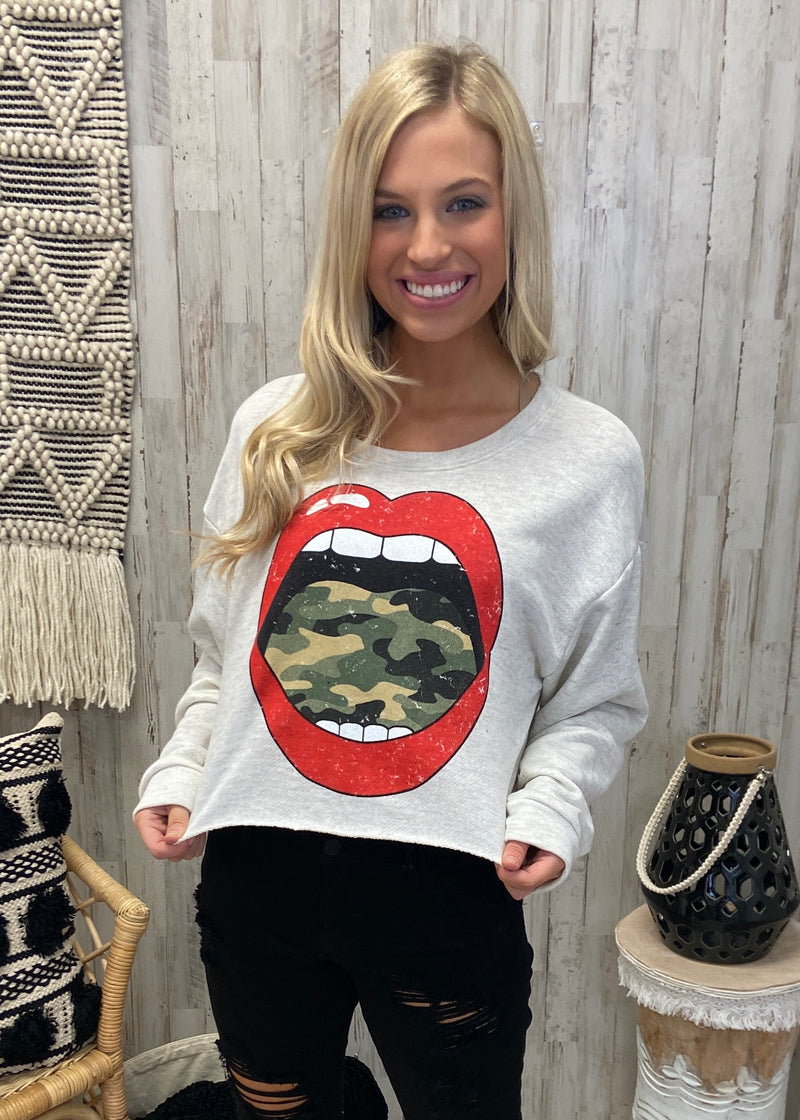 Cool With That Grey Camo Tongue Top-Shop-Womens-Boutique-Clothing