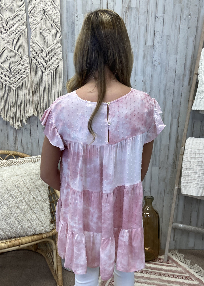 Ordinary Love Pink Tie Dye Top-Shop-Womens-Boutique-Clothing