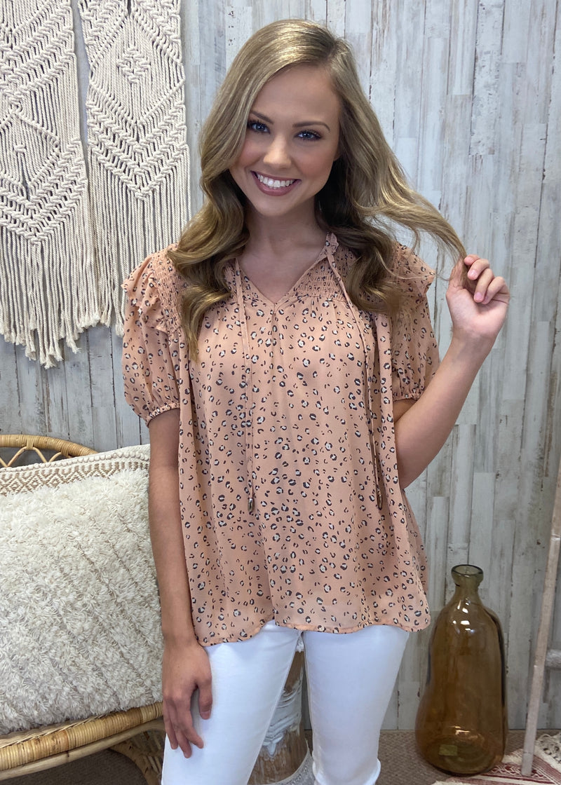 Gleaming With Hope Blush Leopard Top-Shop-Womens-Boutique-Clothing